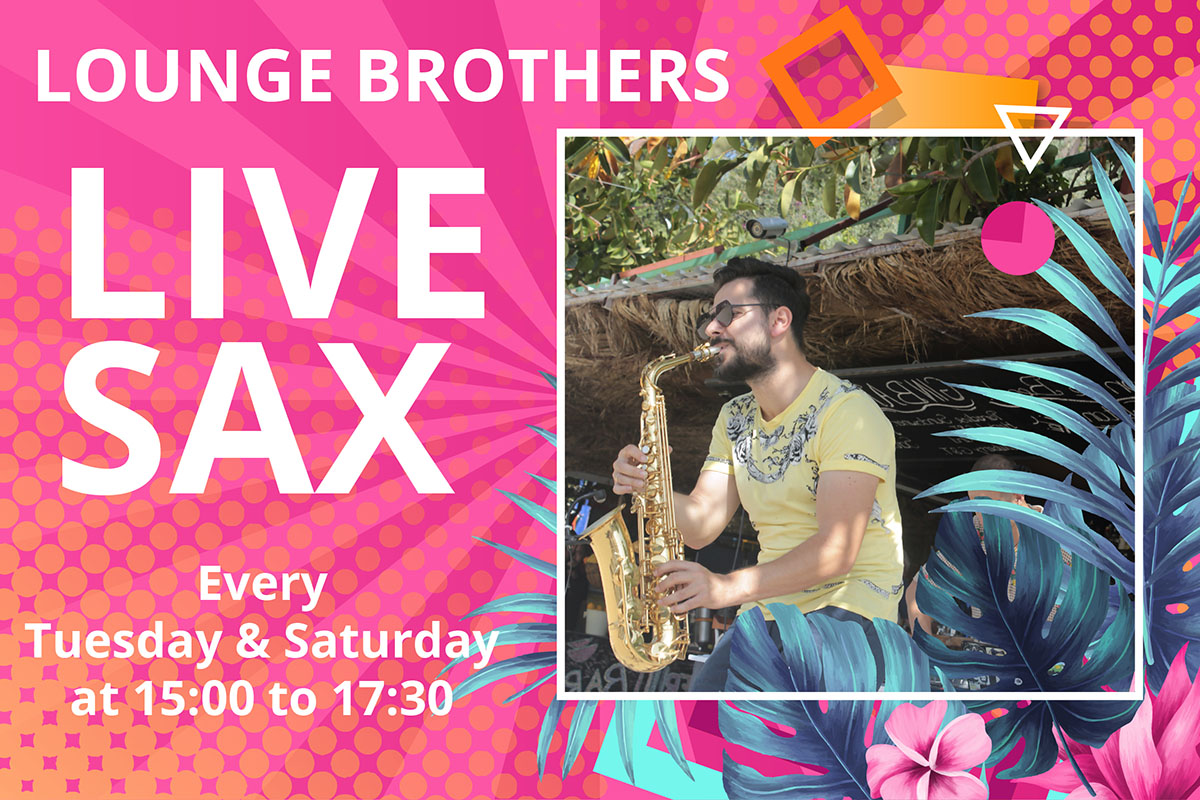 Lounge brothers live saxaphone and dj performance